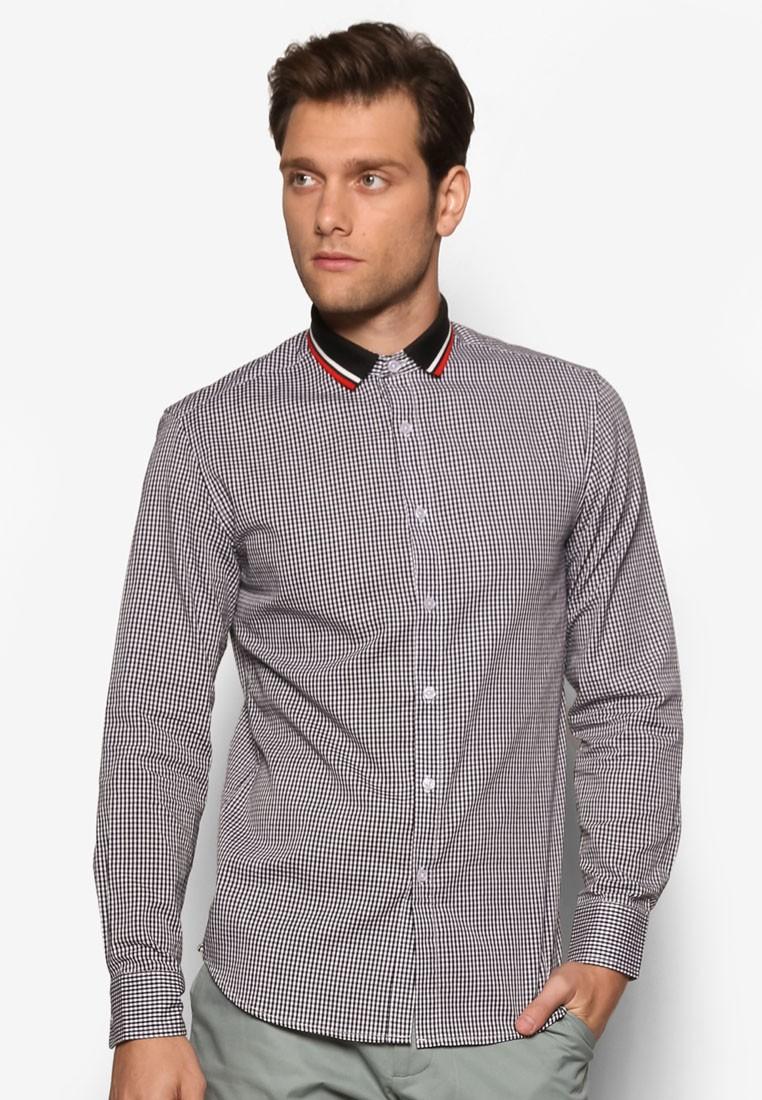 Gingham Check Long Sleeve Shirt
