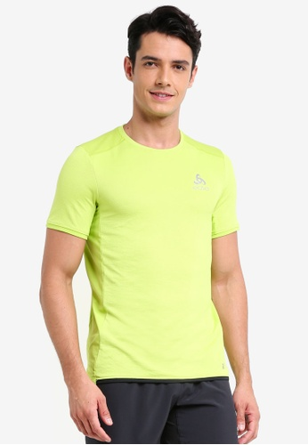 Odlo yellow and green Omnius F-Dry BL Top E6E2CAA3EBA013GS_1