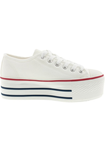 Maxstar Maxstar Women's C50 6 Holes Platform Canvas Low Top Sneakers US Women Size MA168SH89BJMHK_1