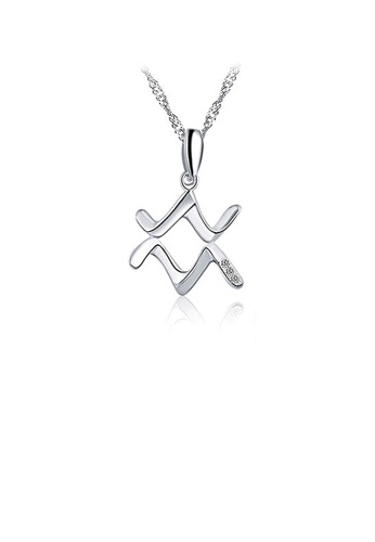 Glamorousky white 925 Sterling Silver Constellation Aquarius Pendant with Necklace EFBFBAC05AE4CAGS_1