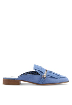 8f5764a12df96b River Island blue Suede Tassel Backless Loafers 9EBCBSH9172EF9GS 1