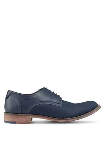 Bata blue and navy Denim Dress Shoes 2B0B4SHB200602GS_1