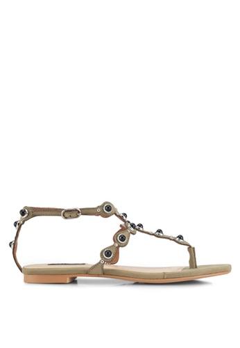 ZALORA green Bohemian-look Sandals D7465SHB26E3FEGS_1