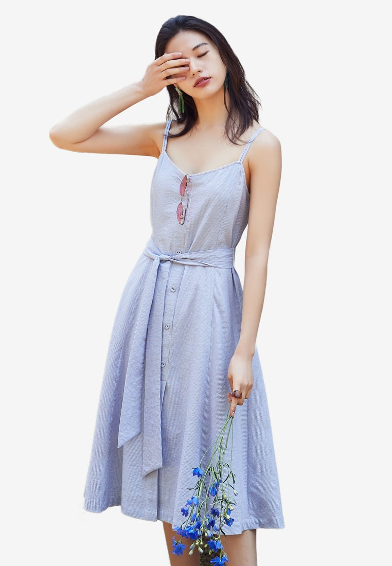 Flare Blue Dress Blue NAIN Flare Flare Dress NAIN Stripe Stripe Stripe Dress xaaqAfYF