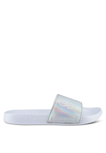 Superdry silver Superdry Pool Slide 466F4SHE42FFDBGS_1
