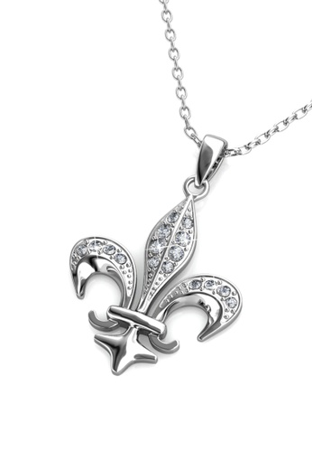 Her Jewellery silver Medieval Pendant (White Gold) - Made with premium grade crystals from Austria 346DBACA2DAE85GS_1