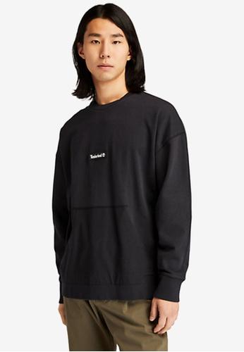 Timberland black Garment-Dyed Graphic Sweatshirt 3B32CAAEEF1A5FGS_1