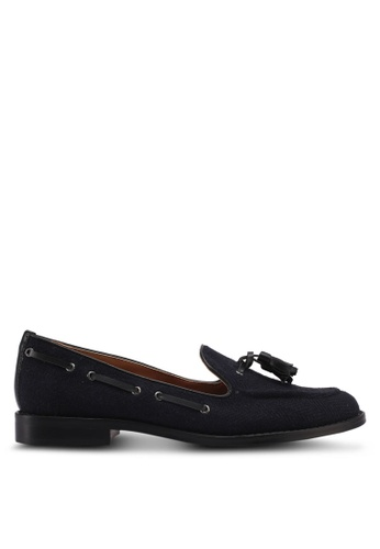 ZALORA black Herringbone Detail Loafers 472DASH034F341GS_1