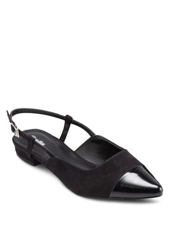 Wendy esprit hong kong踝帶尖頭平底鞋, 女鞋, 鞋