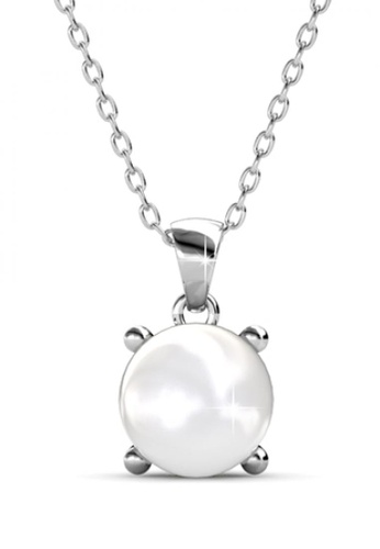 Her Jewellery silver Her Jewellery Sweet Pearl Pendant with Necklace Chain with 18K Gold Plated HE581AC0RAFPMY_1