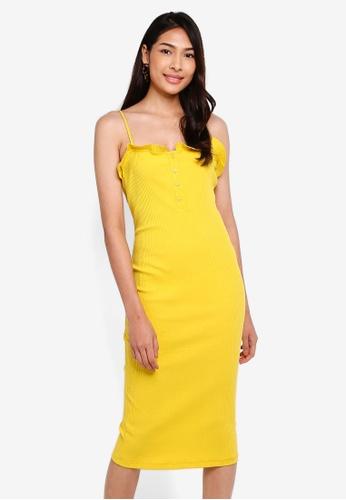 Glamorous 黃色 Cami 洋裝 A0651AADA86545GS_1