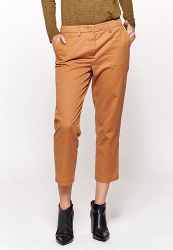 Sisley brown Cropped Pants CE574AA9C40740GS_1