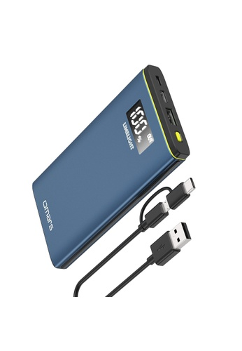 Omars blue 10000mAh Portable PD Power Bank, USB-C With PD 18W & USB-A Support 18W Fast Charging Protocol 3C170ES08D7EDDGS_1