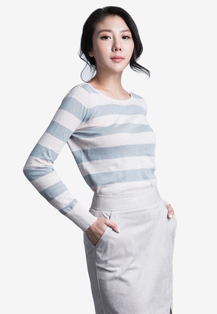 Round Neck Stripe Sweater