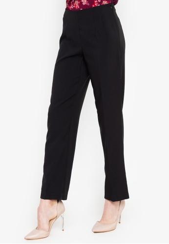 MARKS & SPENCER black Straight Leg Trousers 9F732AAD49485DGS_1