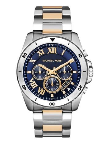 MICHAEL KORS silver Brecken Chronograph Watch MI248AC0K94SPH_1