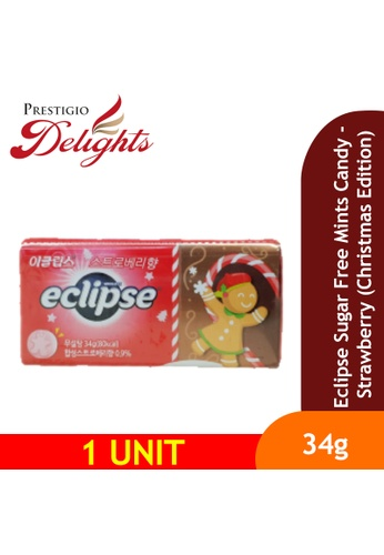 Prestigio Delights Eclipse Sugar Free Mints Candy - Strawberry (Christmas Edition) 34g 470D7ES7B76C0DGS_1