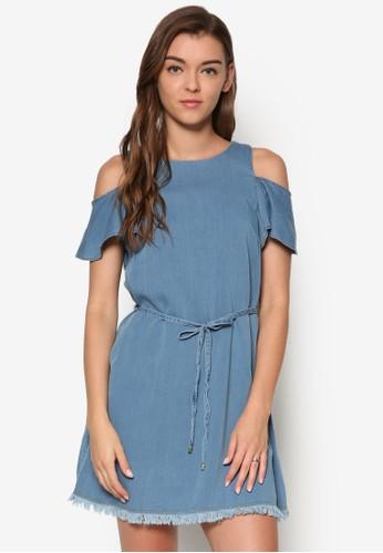 挖肩鬢毛丹寧連身裙, 服飾,esprit tote bag 服飾