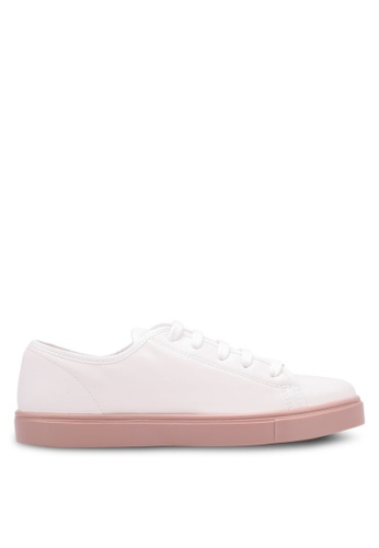 TOPSHOP white Crush Lace Up Trainers TO412SH0SBR2MY_1
