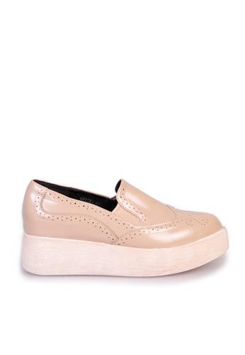 Sunnydaysweety beige 2017 vintage carved platform shoes C033098BE SU443SH77GTMHK_1