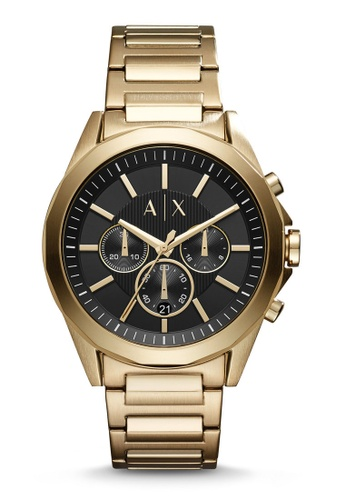 Armani Exchange gold ARMANI Exchange Drexler Gold Watch AX2611 AR162AC0S0BGMY_1