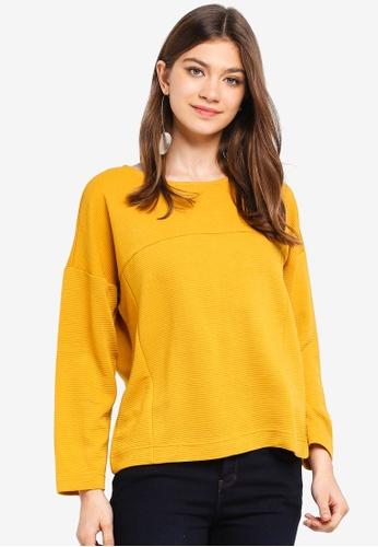 JACQUELINE DE YONG gold Maise L/S Zip Sweatshirt 4370DAA33C854EGS_1