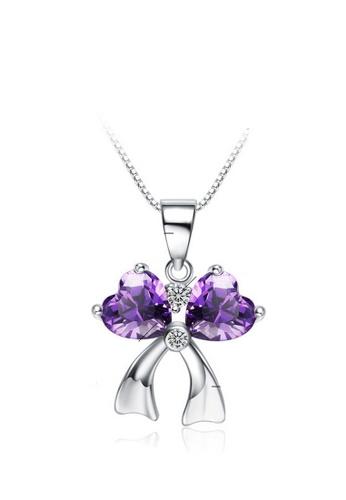 LYCKA purple and silver LPP88166 S925 Silver Necklace EB3ABAC4FA0E5AGS_1