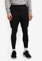 2GO black Elasticised Waistband Performance Shorts 2G729AA0S5W5MY_1