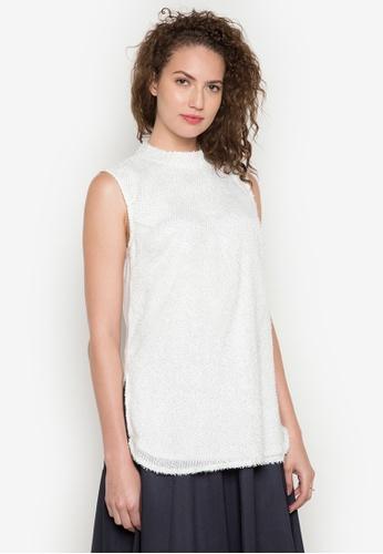 ANYA white Mona Sleeveless Blouse AN899AA0JPA9PH_1