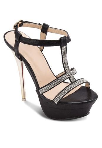 閃鑽多帶厚底高跟鞋, 女鞋, 厚esprit鞋子底鞋