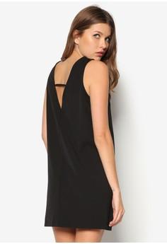 Collection Deep V Back Shift Dress