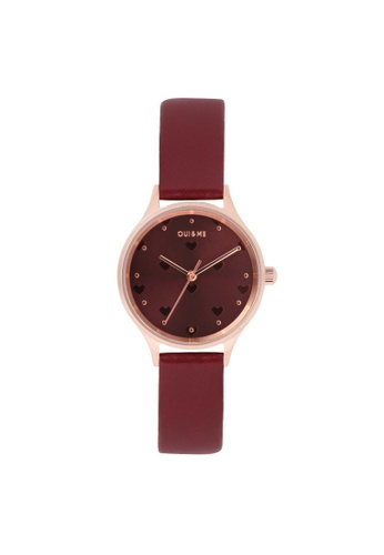 Oui & Me red OUI&ME Minette BURGUNDY Leather Ladies Watches ME010170 B785EAC18CADF3GS_1