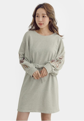 620c3ba1fe91 Buy Eyescream Embroidery Sleeve Sweatshirt Dress | ZALORA HK