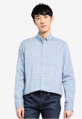 Gap blue Performance Poplin Shirt 61366AA8FE9FFEGS_1