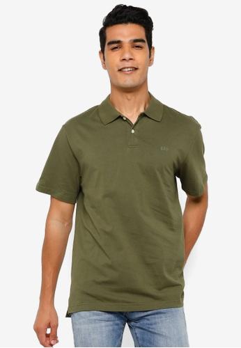 GAP green Logo Jersey Polo Shirt 33E38AA513CA27GS_1