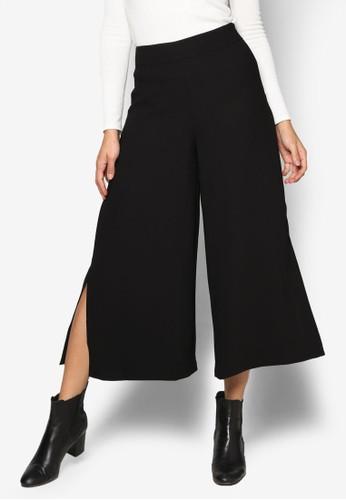 側開衩寬管褲, 服飾, 長褲及esprit hk內搭褲