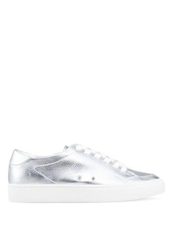 MANGO 銀色 金屬感運動鞋 76A41SHB87326FGS_1