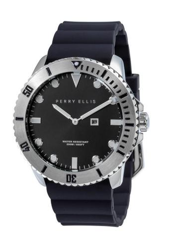 Perry Ellis black Perry Ellis Deep Diver Men 46mm Quartz Watch 02001-03 97068AC6DA5BDAGS_1
