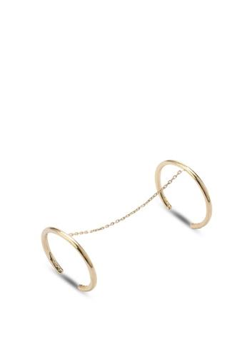 Wanderlust + Co gold Nala Gold & Crystal Chain Rings WA415AC54VIVMY_1