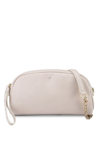 agnès b. white and grey Sling Bag with Chain 95909ACBF95391GS_1