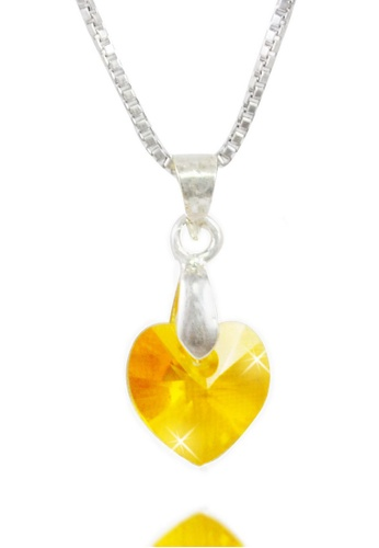 CELOVIS yellow and silver S-Series Swarovski Crystal Pendant (Yellow) CE446AC75LYUMY_1