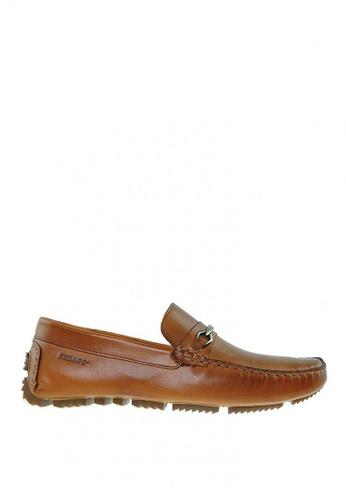 Sebago brown Scott Bit Loafers Shoes 010F7SHD10B9CEGS_1