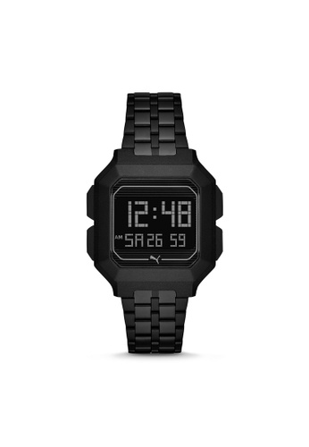 Puma black PUMA Remix LCD Black Stainless Steel Watch P5017 FADC3ACDDC9372GS_1