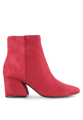TOPSHOP red Brooke Ankle Boots TO412SH0RV6WMY_1