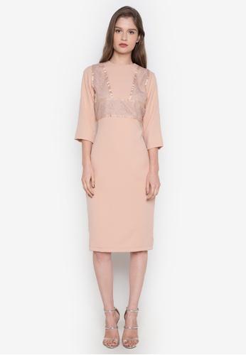 NEW ESSENTIALS pink Dennis Lustico Cocktail Dress NE239AA0JD1QPH_1