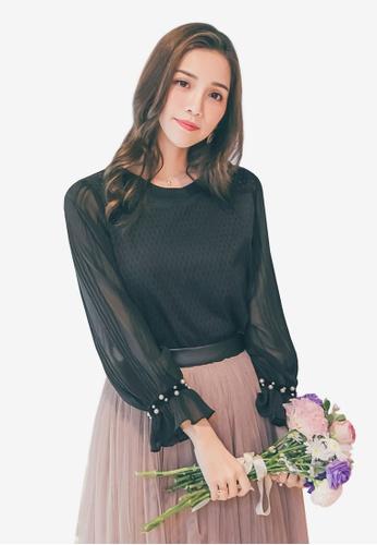 YOCO black Pearl Embellished Blouse E23B1AAAB65E2AGS_1