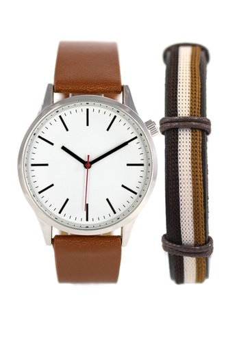 LEUPP brown Kubo Watch And Bracelet Pack 4D293ACF54C698GS_1