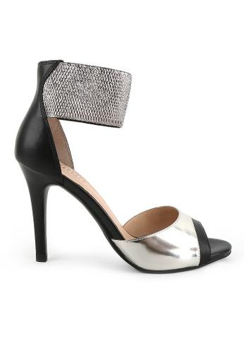 Joy & Peace black Ankle Strap Heels JO458SH83YGQHK_1