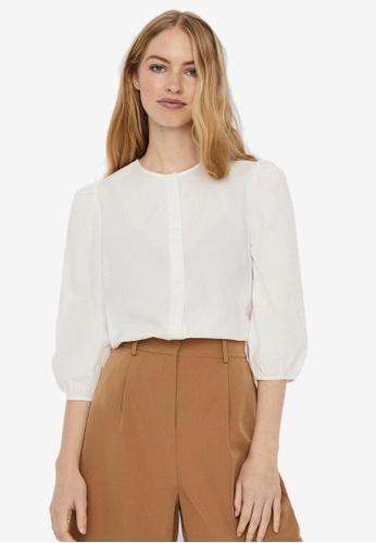 Vero Moda white 3/4 Sleeve Shirt 561DDAA2079CBEGS_1