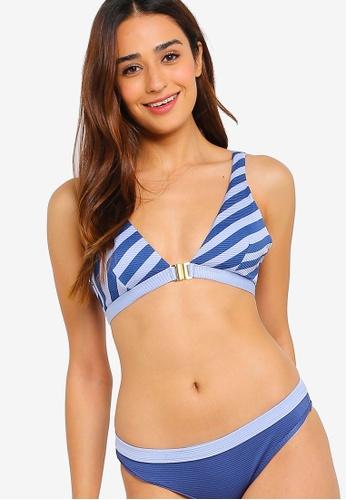 Duskii blue and multi Salsa Stripe Bikini Top 2F000USA1D2350GS_1